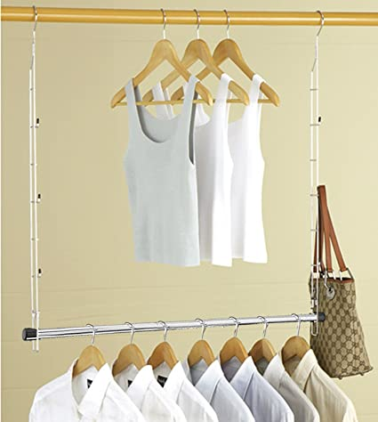 Heavy Duty ADJUSTABLE Closet Doubler   Closet Rod Hanger Doubles Closet  Space AND NOW STORES ACCESSORIES