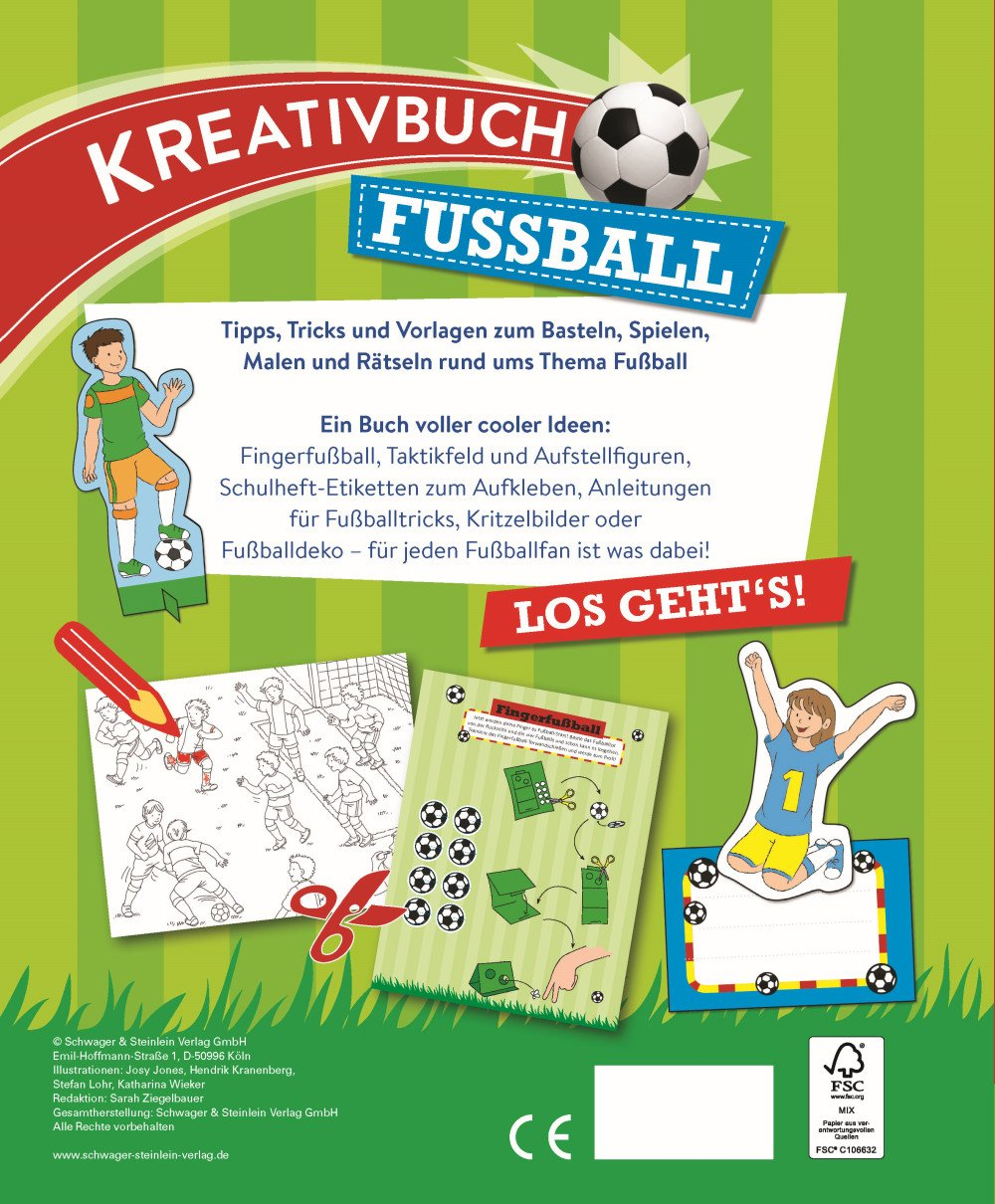 Kreativbuch Fussball 9783849911812 Amazon Com Books
