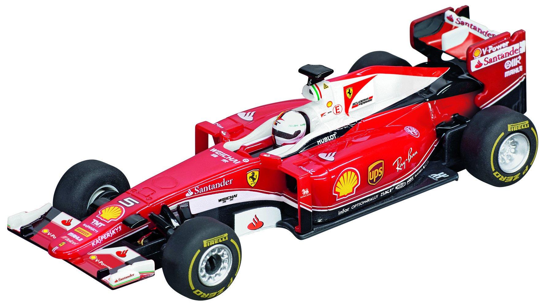 Carrera 64086 GO Slot Car Vehicle-Ferrari SF16-H S.Vettel, No.5 (1:43 Scale)
