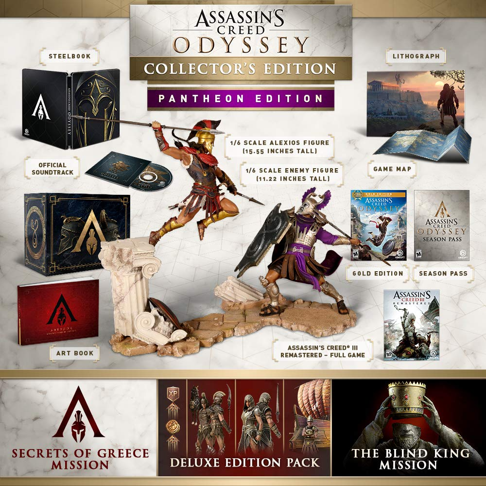 Amazon Com Assassin S Creed Odyssey Pantheon Collector S Edition