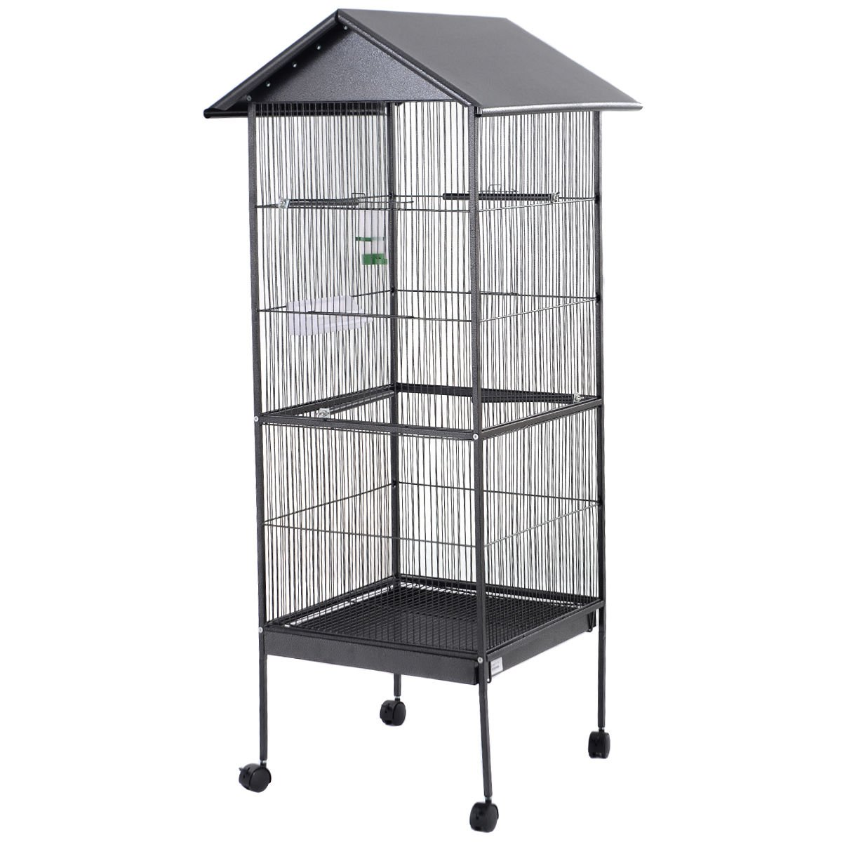 Giantex 61'' Large Parrot Bird Cage Play Top Pet Supplies w/Perch Stand Two Doors Iron by Giantex