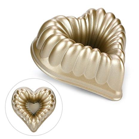 Ezeso 6 inch aluminio fundido antiadherente Cake Baking Pan Caliente Forma de Corazón Cake Molde para