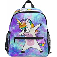 Dab Unicorn School Backpack for Girls Galaxy Cute Bookbags Elementary School Bags 10x 6 x 12 for 1th- 3th Grade Kids Girls Boys