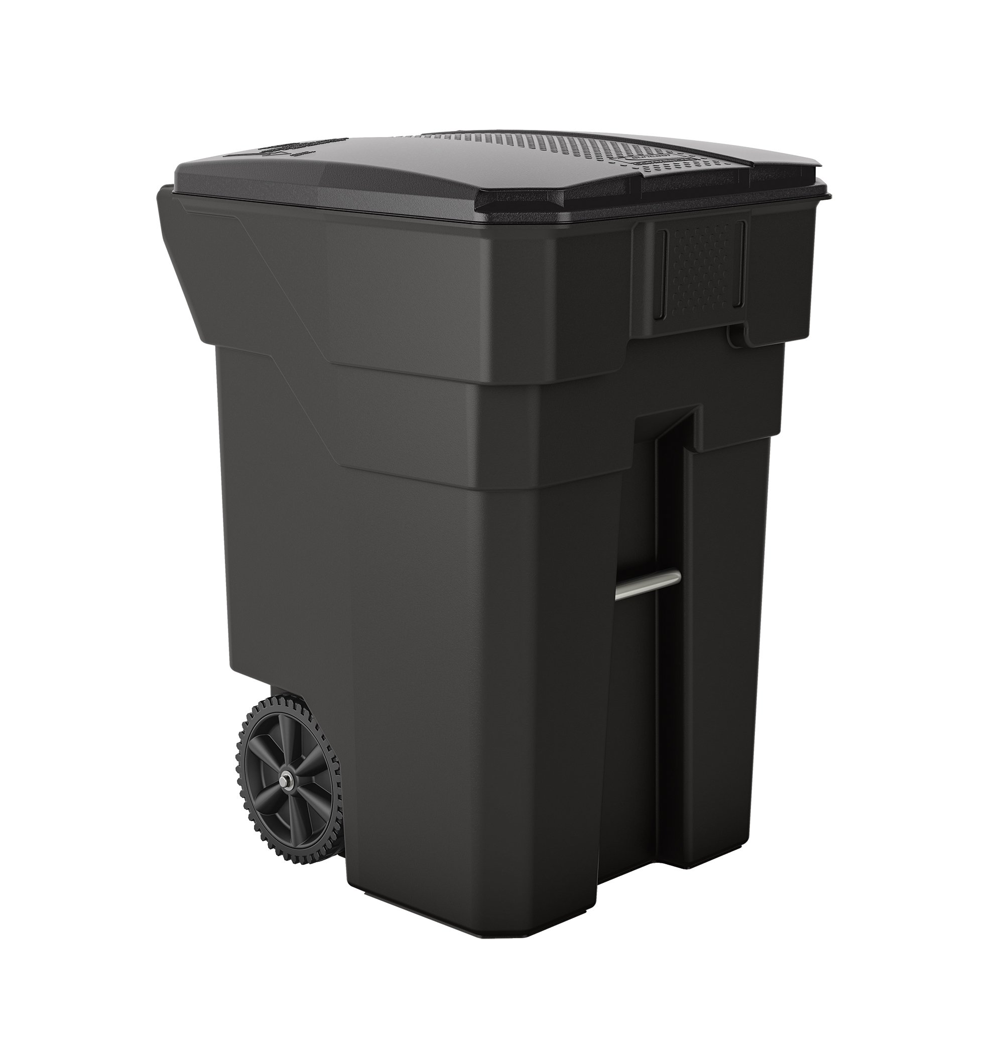 Suncast Commercial BMTCW96 Wheeled Trash Can, 43.75'' Height, 31'' Width, 96 gal Capacity, Plastic, Gray