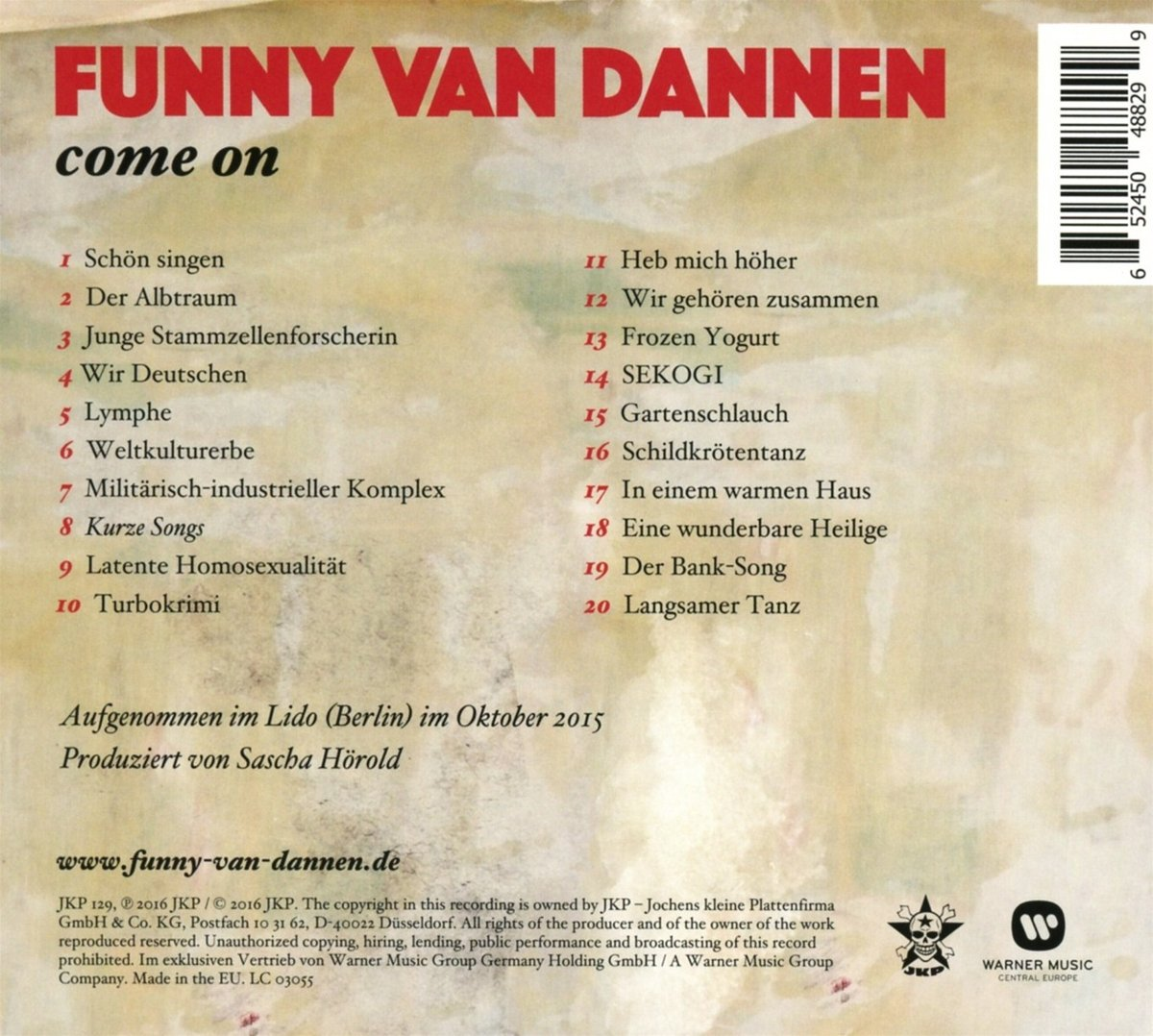 Come on-Live im Lido - Funny Van Dannen: Amazon.de: Musik