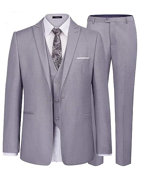 iClosam Trajes Hombre Chaquetas Suit Chaqueta De Tres 3 ...