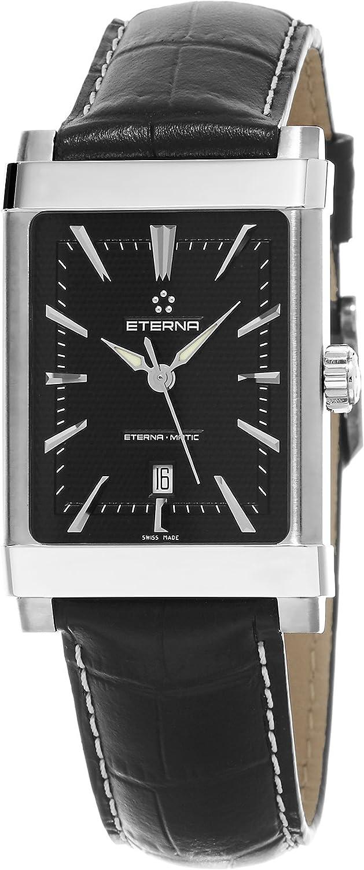 Eterna - 1935 eterna-matic Mujer Negro correa de piel reloj automático suizo 8491.41.41.1117d: Eterna: Amazon.es: Relojes