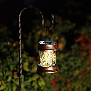 YJFWAL Solar Lanterns Outdoor, Solar Hanging Lanterns with Clip, Solar Table Lights for Patio, Garden, Yard, Tree and Pathway Decoration(2 Pack Warm White)