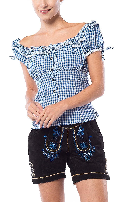 Tannhauser Kurze Trachten Damen Lederhose Doris aus echtem leder Dunkelbraun Damenlederhose in Gr/ö/ße 36 bis 44