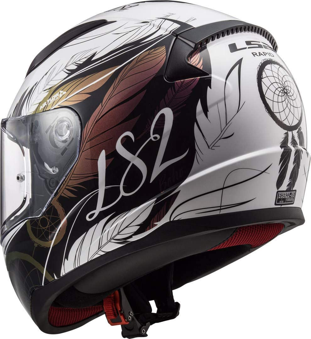 LS2 Motorcycle Helmets-Rapid Matt Black Size XS