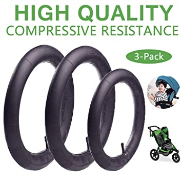 Made from BPA//Latex Free Premium Quality Butyl Rubber 12.5 x 1.75//2.15 Back Wheel Replacement Inner Tubes 2-Pack for BoB Revolution SE//Pro//Flex//SU//Ironman
