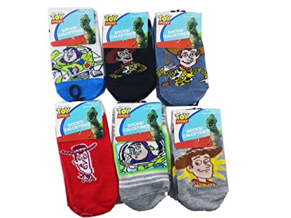 3 Piece Toy Story Socks (Size 6-8) - Assorted Childrens Socks