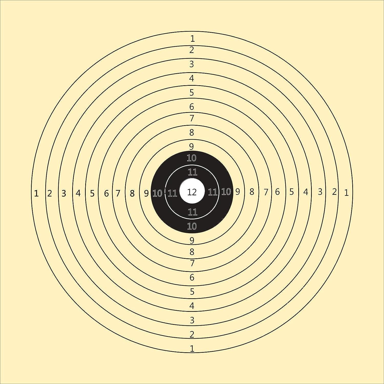 Druckteam Schleede /& Partner Schie/ßscheiben Gewehr mit 12 Ringen