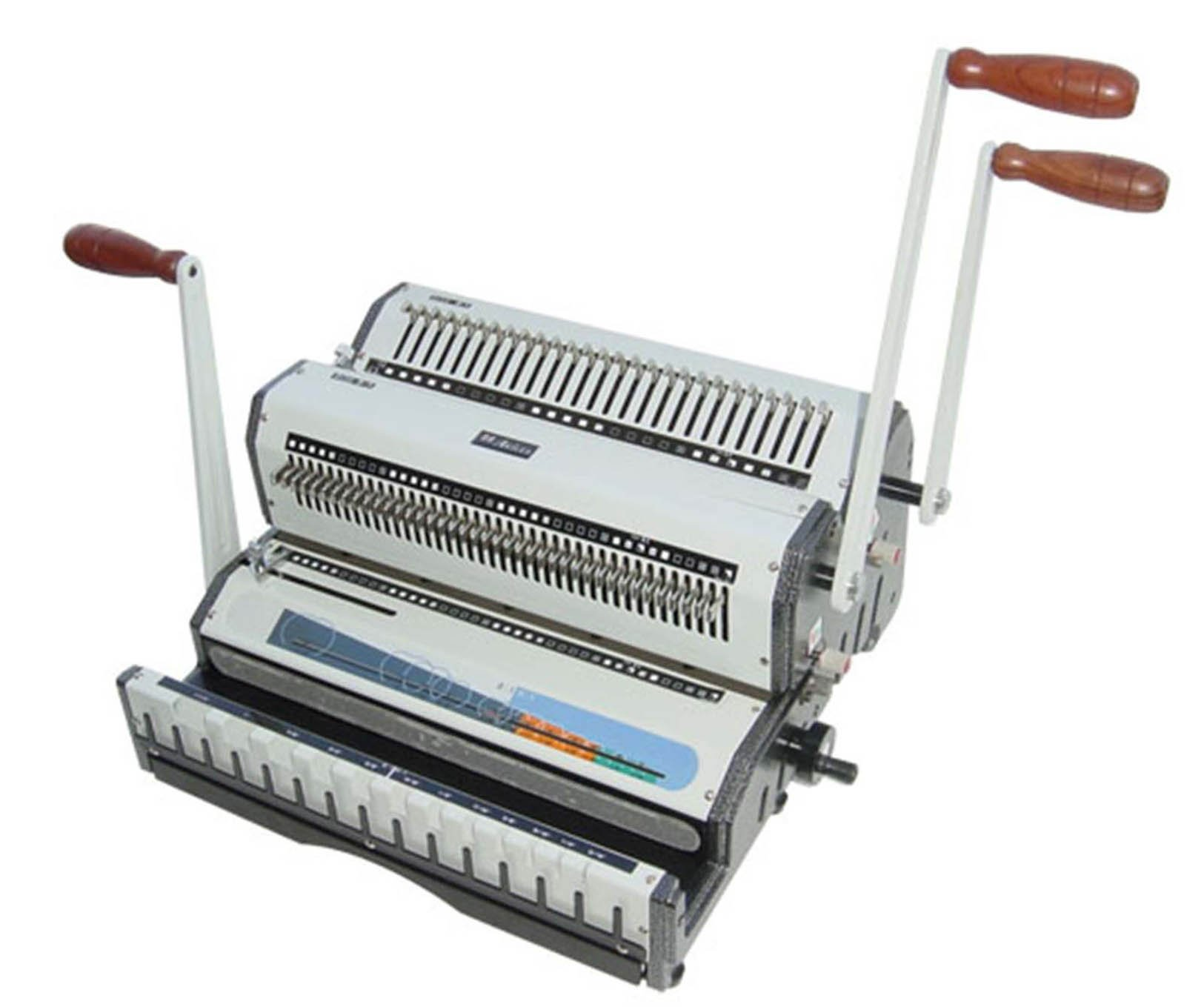 Akiles Wiremac Duo 14'' Punching & Binding Machine Heavy Duty 2-in-1, 2:1 & 3:1 Wire by Akiles