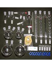Laboratorio de química orgánica Conjunto de instrumentos de vidrio Ciencia industrial Filtración de agua Aceite esencial Destilador de destilación con dispositivo de purificación de condensador