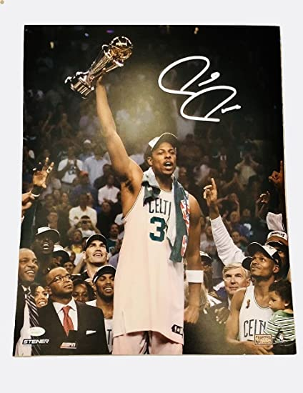 d8e9d20b5 Paul Pierce Boston Celtics Signed Autographed NBA Champions 16x20 Photo JSA