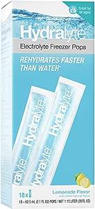 Hydralyte Electrolyte Hydration Freezer Pops (Lemonade, 18)…