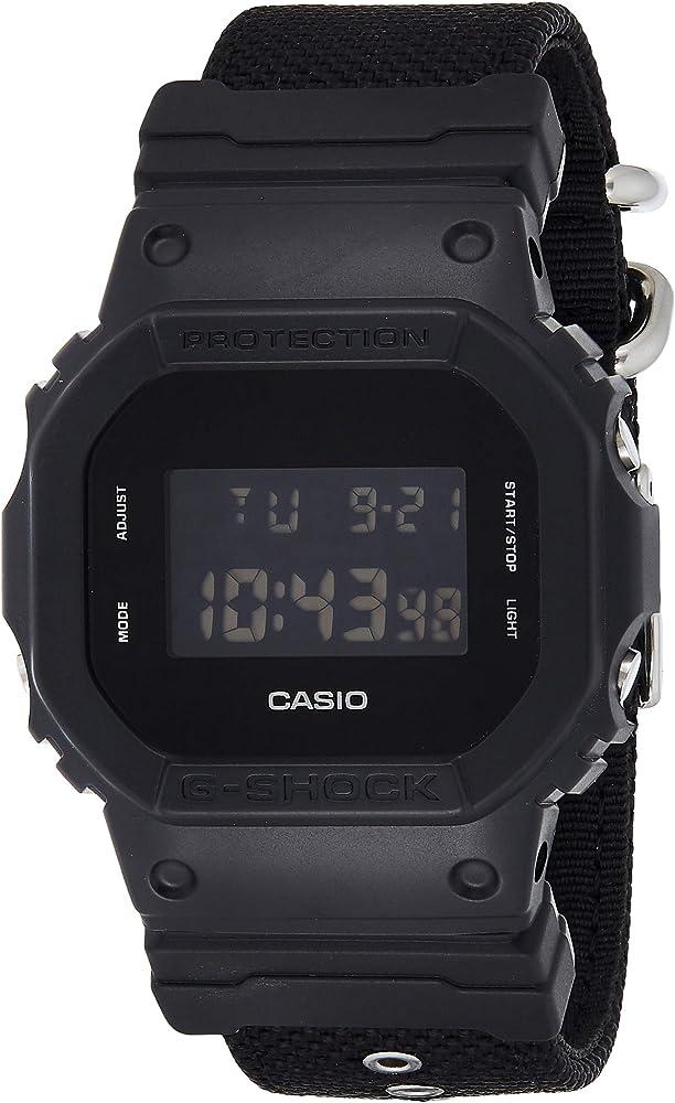 Casio G-SHOCK Reloj Digital, 20 BAR, Negro, para Hombre, con Correa de Cordura nylon, DW-5600BBN-1ER: Amazon.es: Relojes