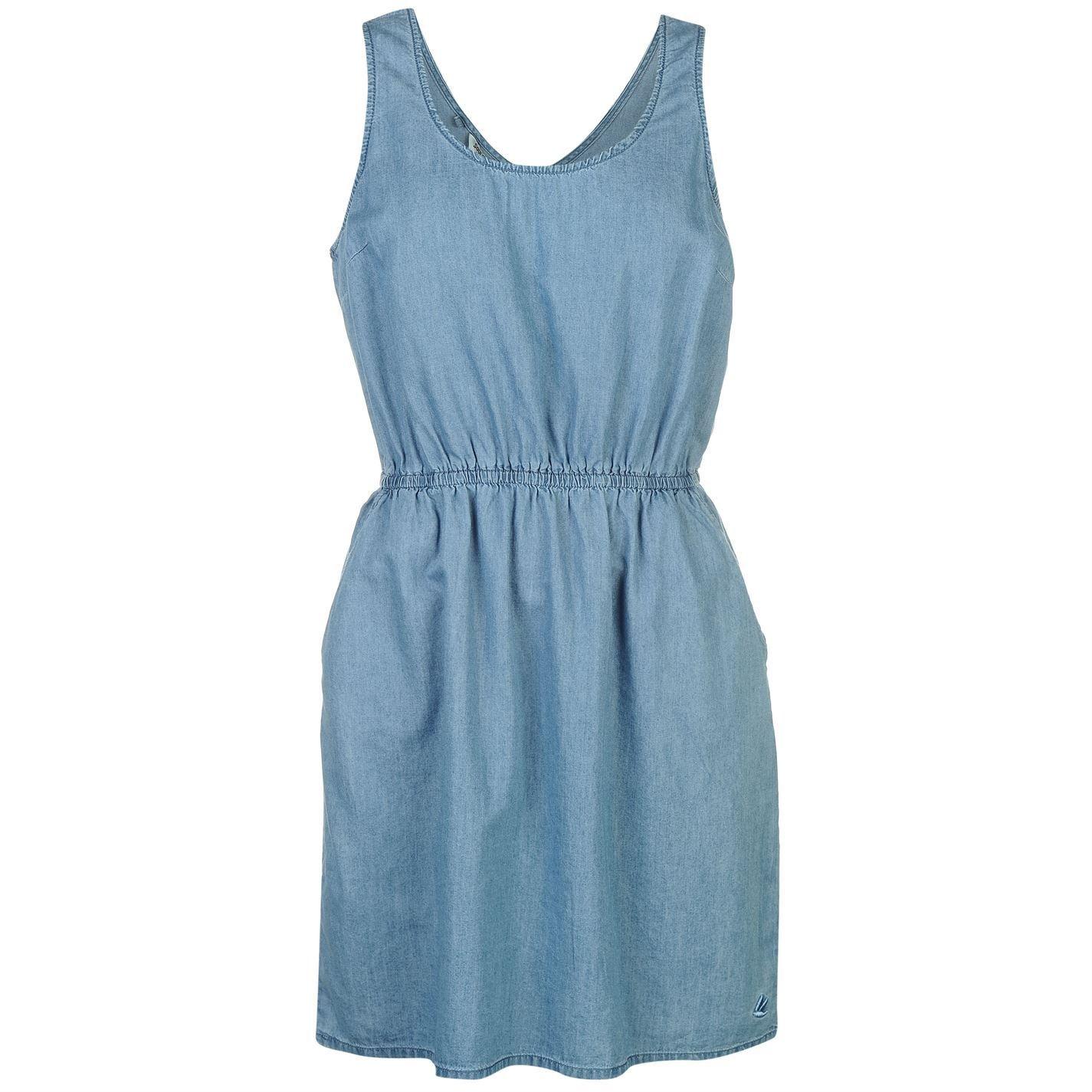 Soul Cal Mujer Denim Vestido Pichi Vaquero Mid Blue S (Eu 38/Uk 10 ...