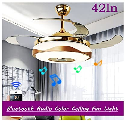 Modern 42 bluetooth auto color ceiling fan lights chandelier modern 42quot bluetooth auto color ceiling fan lights chandelier ceiling light wbluetooth remote aloadofball Images