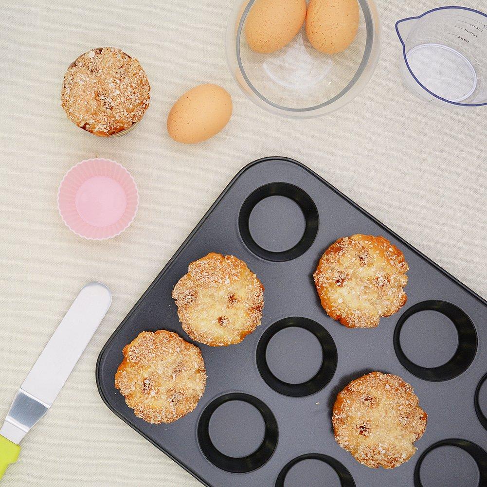 Kootek 7-Piece NonStick Bakeware Set, Muffin Pan, Loaf Pan, Cake Pan, Round Pan, Baking Sheet Pan, Cooling Racks Professional Baking Supplies Rectangle Cookie Pans by Kootek (Image #4)