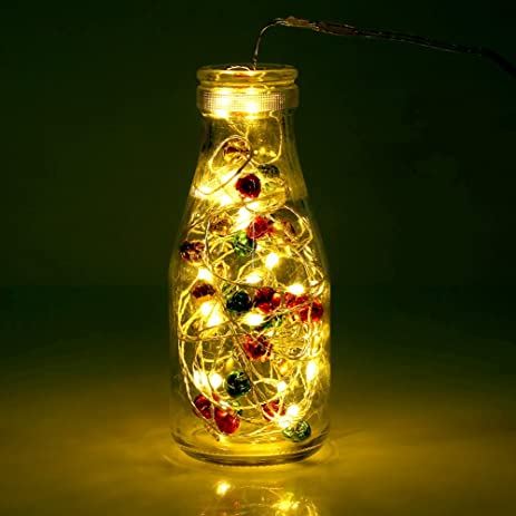 christmas bell lights bottle string lights home decoration led mini bells lights battery operated copper