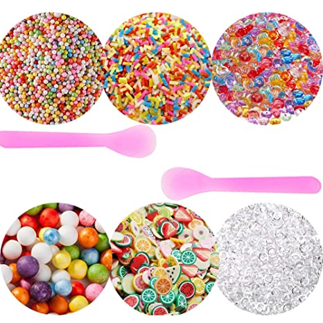 secowel 6 Pack Kit para hacer Slime suministros incluido pecera perlas, bolas de espuma,