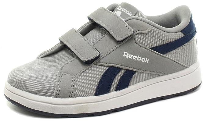 Reebok Royal Comp L2V Cvs, Zapatos de Primeros Pasos Unisex Bebé, Negro/Azul/Blanco (Black/Electric Blue/White), 25 EU