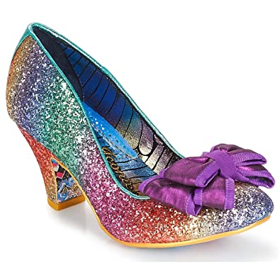 a7319a375453 Irregular Choice Womens Lady Ban Joe Multi Glitter Court Shoes Size 3.5 (EU  36)