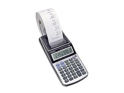Canon P1-DTSC HWB - Calculadora (Escritorio, Calculadora financiera, 12 dígitos, AC/Batería, Metálico, Plata)