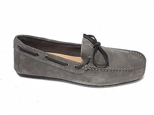 FRAU - Mocasines de Piel para Hombre Rojo Morado 40: Amazon.es: Zapatos y complementos