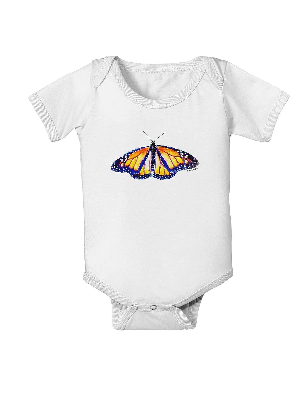 TooLoud Watercolor Monarch Butterfly Baby Romper Bodysuit