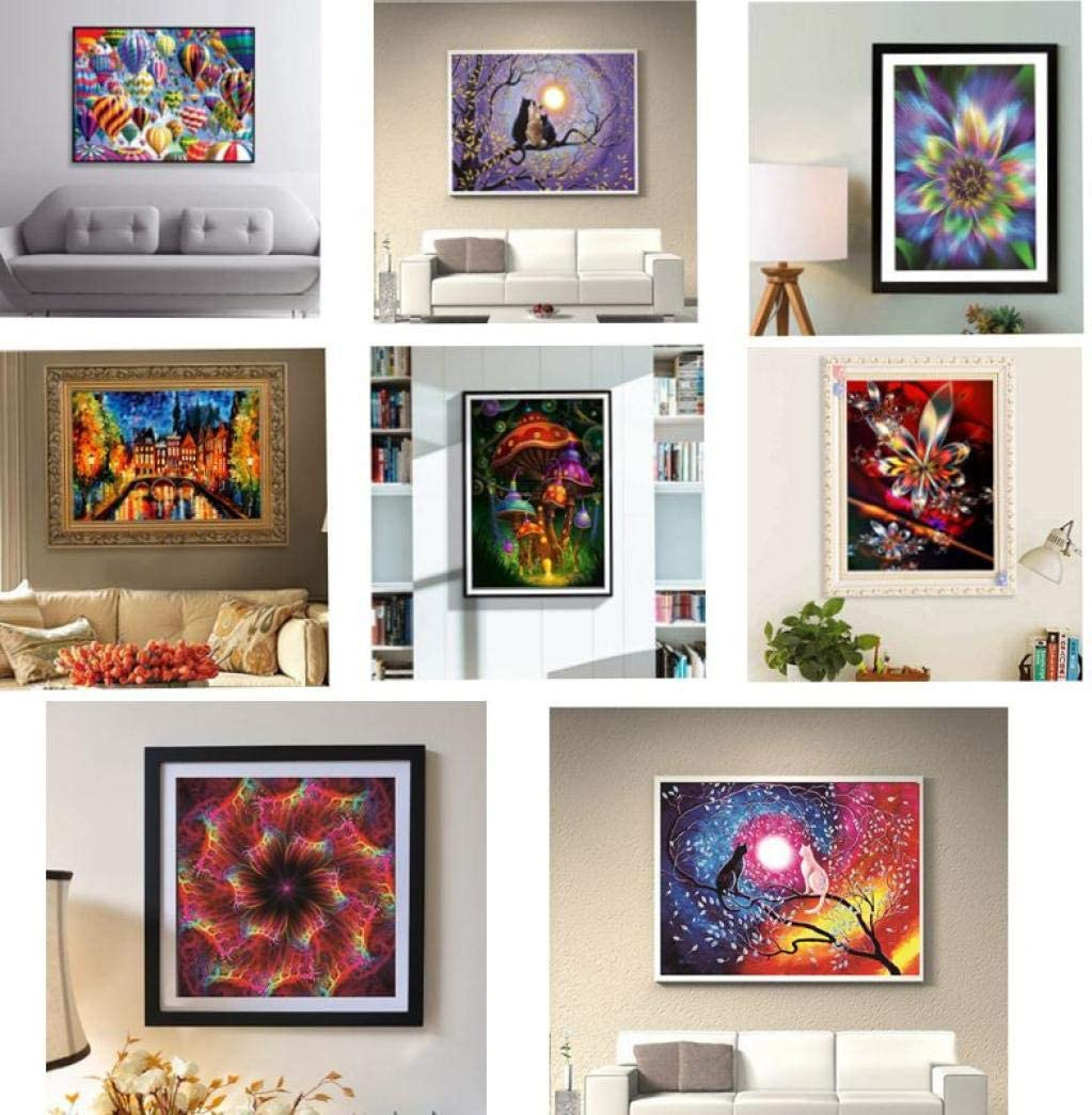 REYO 1 Cent Item DIY 5D Diamond Painting Pattern Crystal Rhinestone Embroidery Wall Stickers Pictures Arts Craft for Home Wall Decor 40X30cm