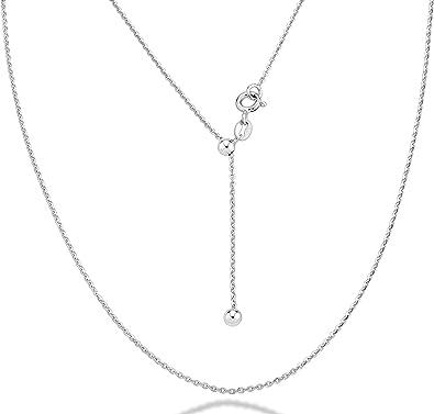 925 Sterling Silver 1.4mm Diamond-Cut Fancy Chain Necklace 16-24