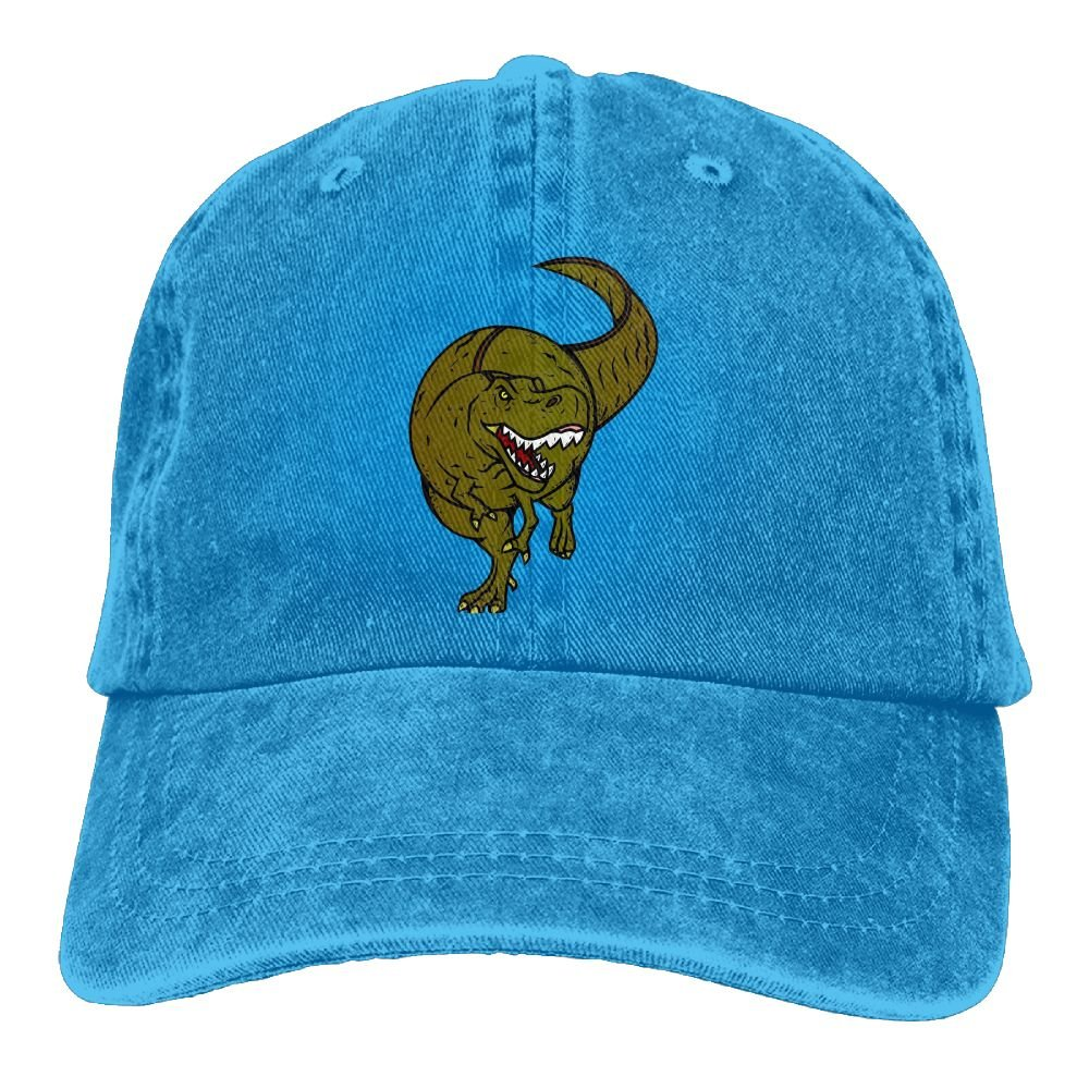 Cretaceous Dinosaur Plain Adjustable Cowboy Cap Denim Hat for Women and Men