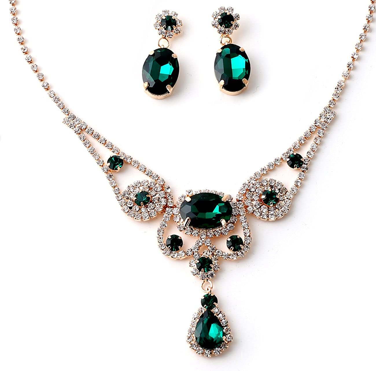 """VINTAGE  20/"""" NECKLACE /& EARRINGS SET  SILVER GOLD PLATED w// TURQUOISE STONES new"""