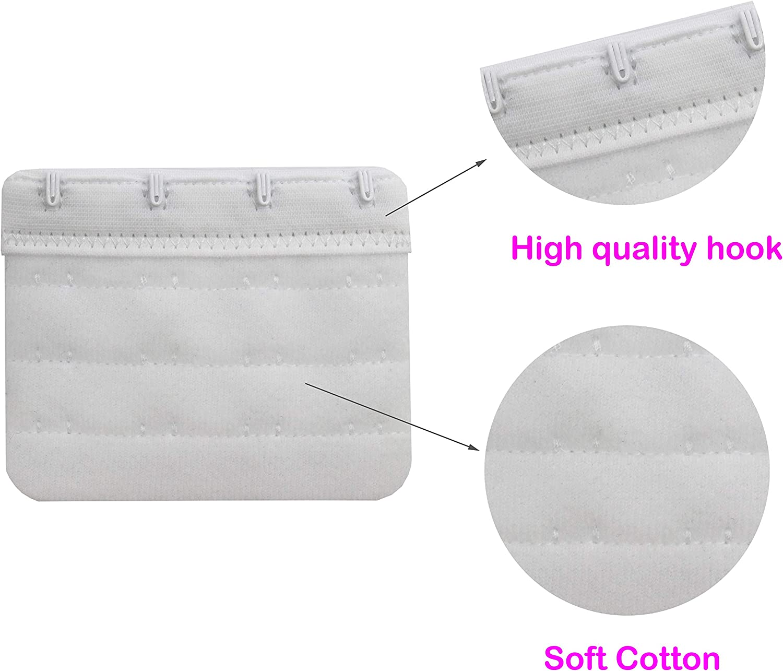 Tamlien Bra Extender 2 Hook//3 Hook//4 Hook Soft and Comfortable Bra Extension