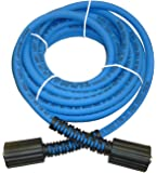 "UBERFLEX Kink Resistant Pressure Washer Hose 1/4"" x 25' 3,100 PSI with (2) 22MM"