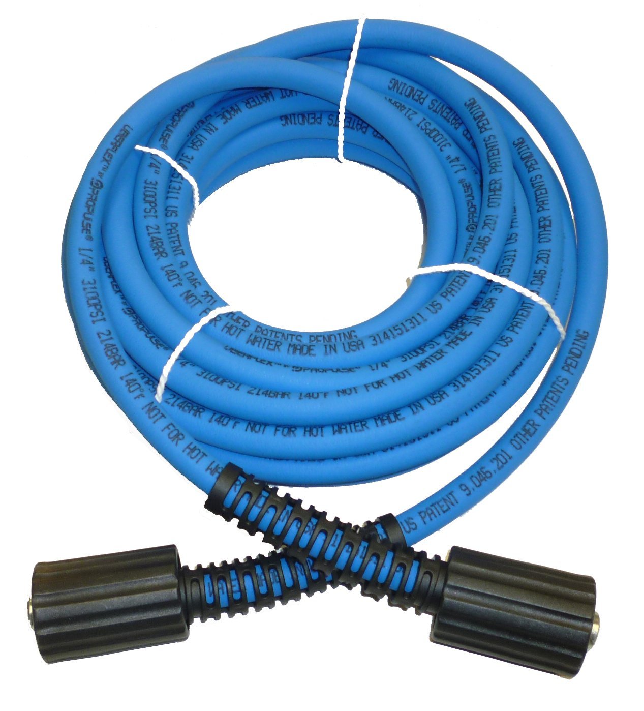 UBERFLEX Kink Resistant Pressure Washer Hose 1/4'' x 25' 3,100 PSI with (2) 22MM by PROPULSE