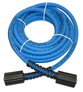 "UBERFLEX Kink Resistant Pressure Washer Hose 1/4"" x 25' 3,100 PSI with (2) 22MM"