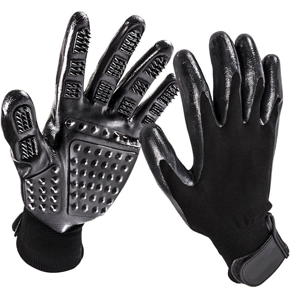 FWY Pet Massage Gloves, high-Efficiency pet Hair Remover Gloves, Enhanced Five-Finger Design Cleaning kit for Dogs and Cats, Long Hair and Short Hair