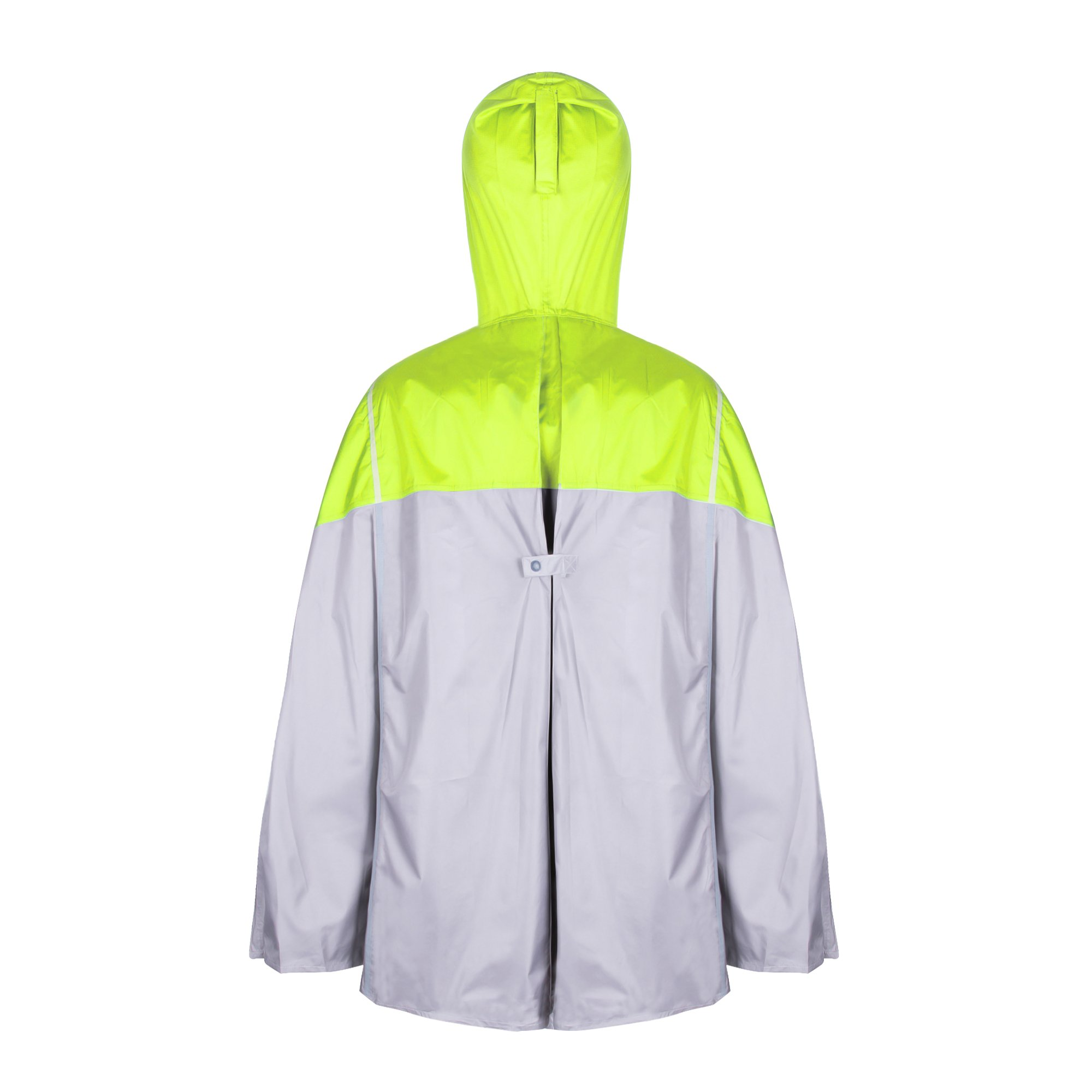 Balnna Rain Poncho with Hoods and Zipper Waterproof Raincoat for Outdoor Activities-Green by Balnna (Image #4)