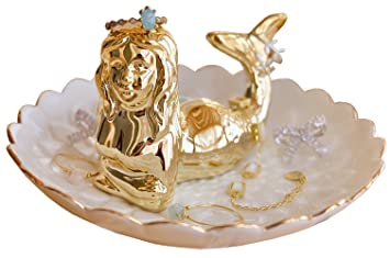 Amazoncom PUDDING CABIN Mermaid Jewelry Tray Ring Holder Trinket