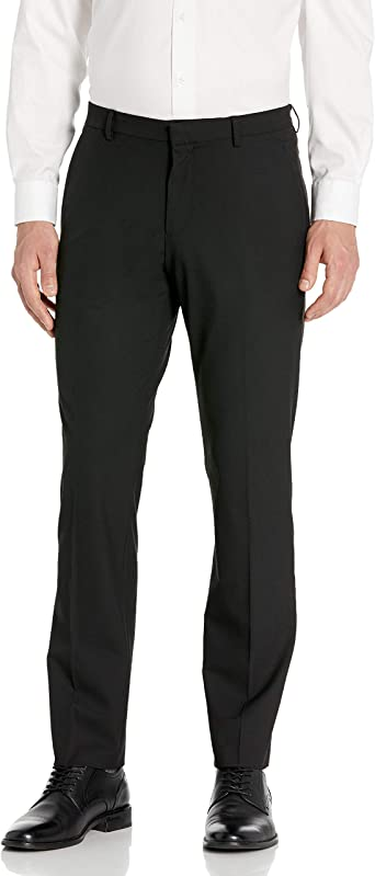 Perry Ellis Mens Travel Luxe Slim Fit Check Pant