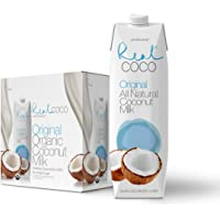 Real Coco Original Coconut Milk 1L, 100% USDA Organic Coconut Milk, Dairy & Soy Free, Vegan, Keto and Paleo Friendly, Plant Based (6-pack, 1L)