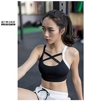 Qosow Sujetadores Deportivos para Mujer Ropa Interior Deportes de Mujer Corriendo Ropa Interior Sujetador de Fitness