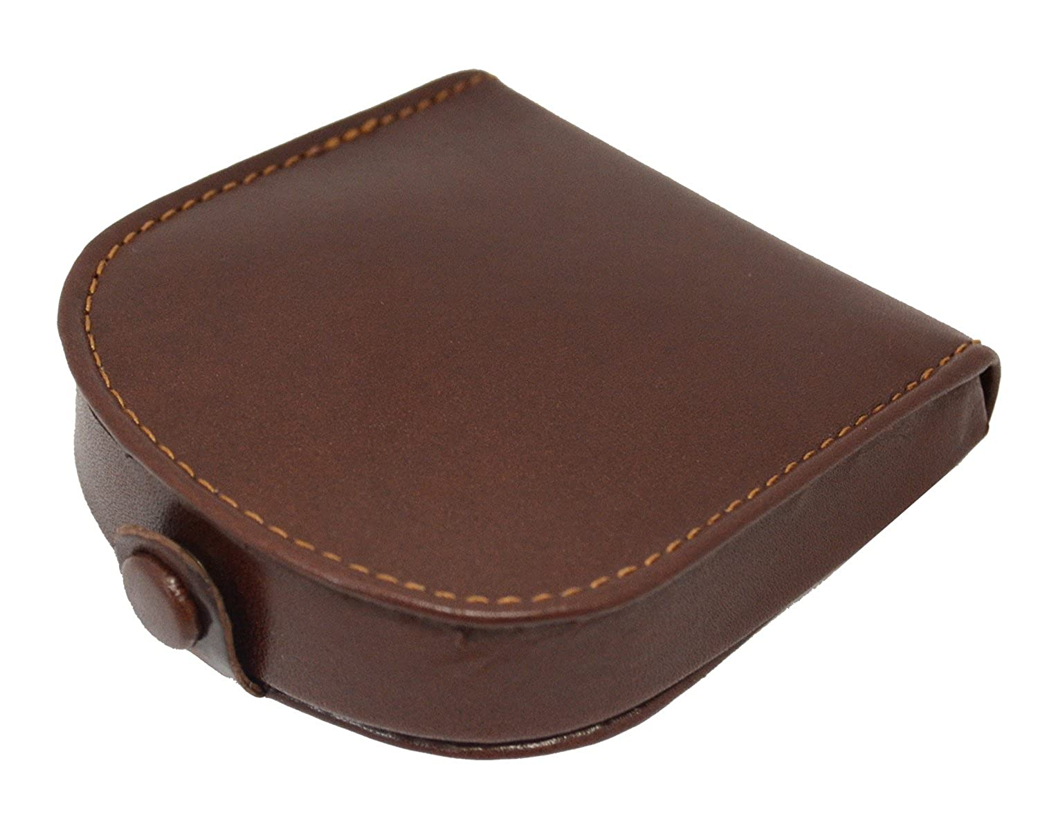 6febcc7108 Amazon.com: Visconti Polo T-5 Brown Soft Leather Coin Purse Pouch Tray/Change  Holder (Black): Clothing