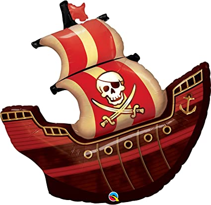 Amazon.com: Barco pirata globo de 40