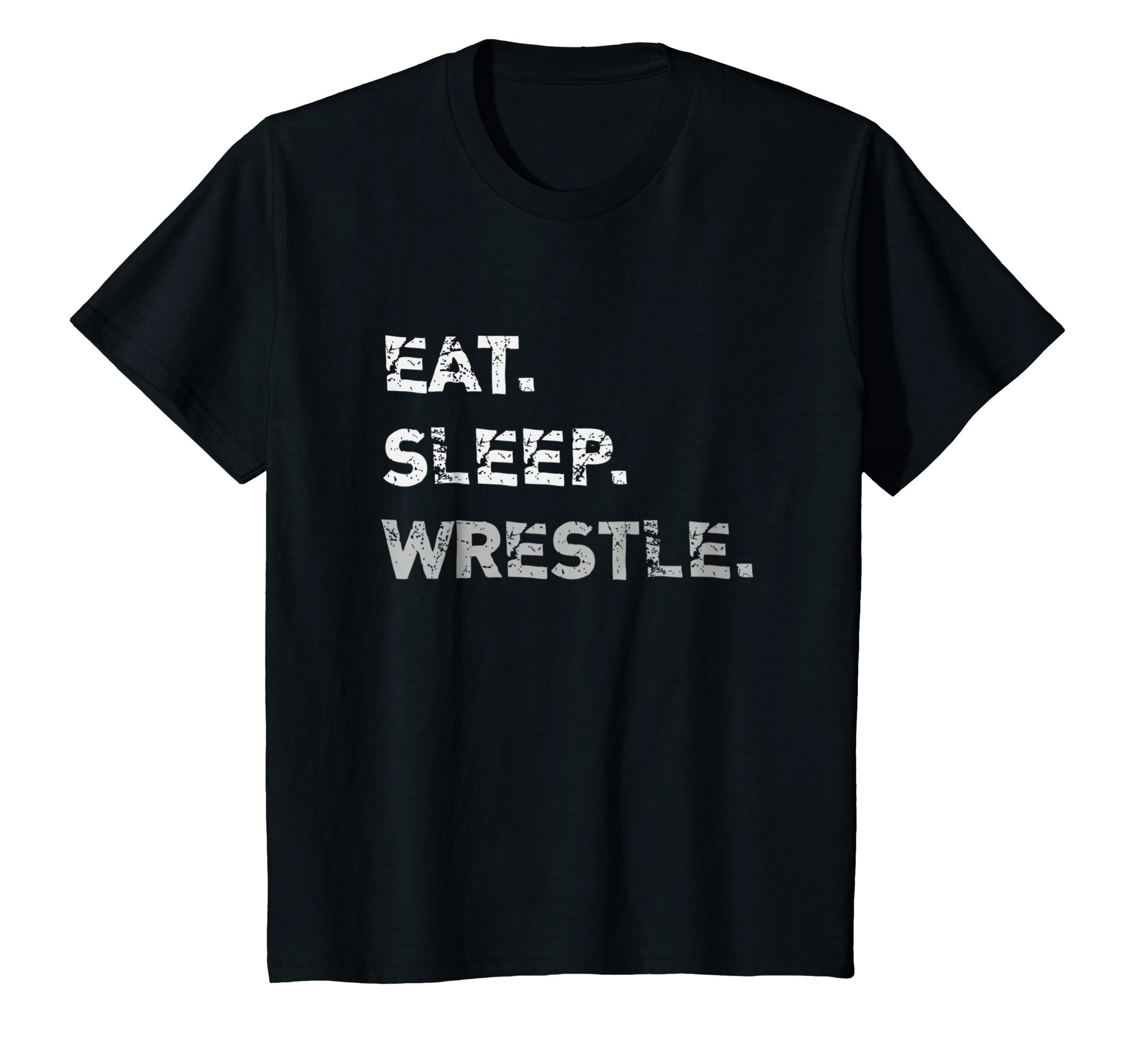 Kids Eat Sleep Wrestle Wrestling T-Shirt 10 Black by Wrestling Life Shirts