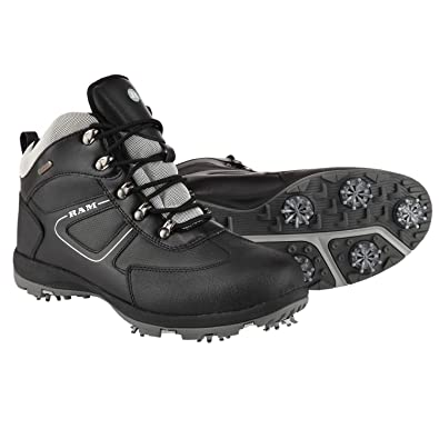 f86e44888e7d Ram Golf Waterproof Winter Leather Golf Boots  Amazon.co.uk  Shoes ...
